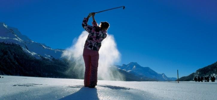 Ice golf winter golf