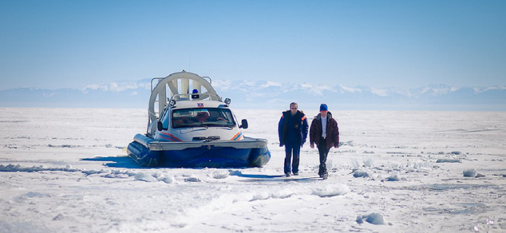Experience russian hovercraft rides and driving at siberia trips with 56th Parallel
