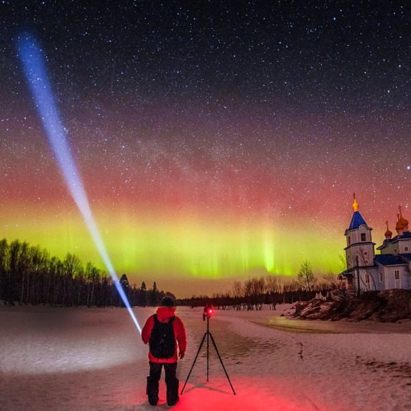 Northern lights Murmansk, Russia aurora borealis