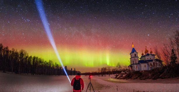 Northern lights Murmansk, Russia aurora borealis