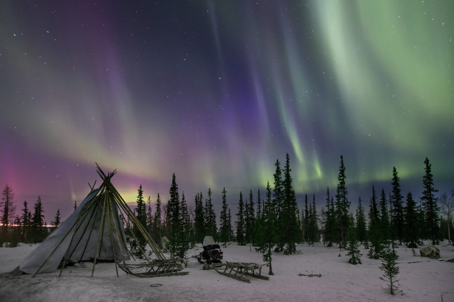 Yamal northern lights