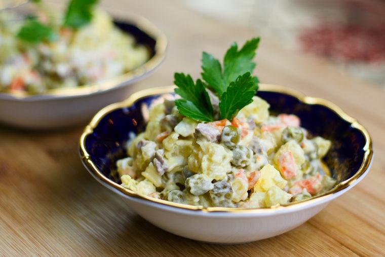Salad Olivie - Russian Food