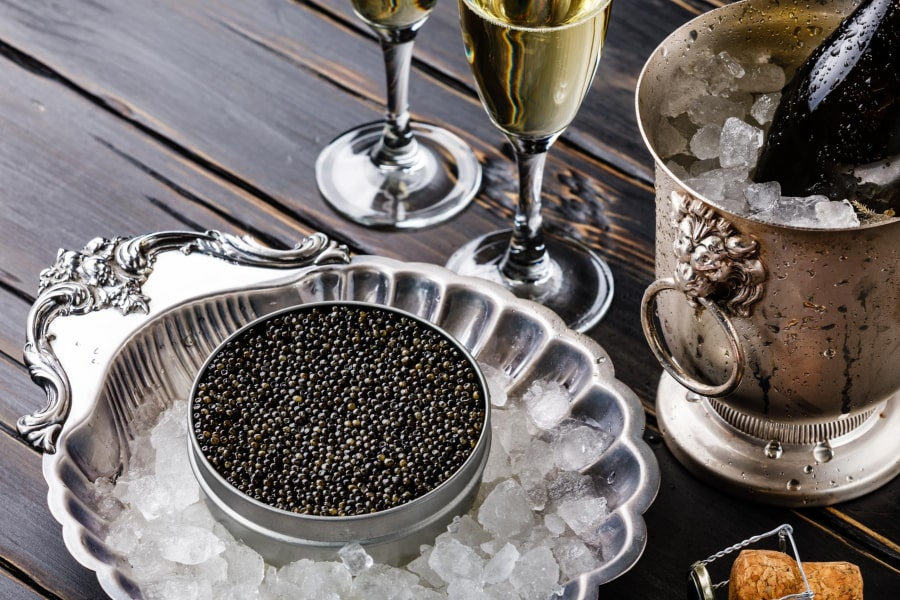 Russian food guide Moscow black caviar