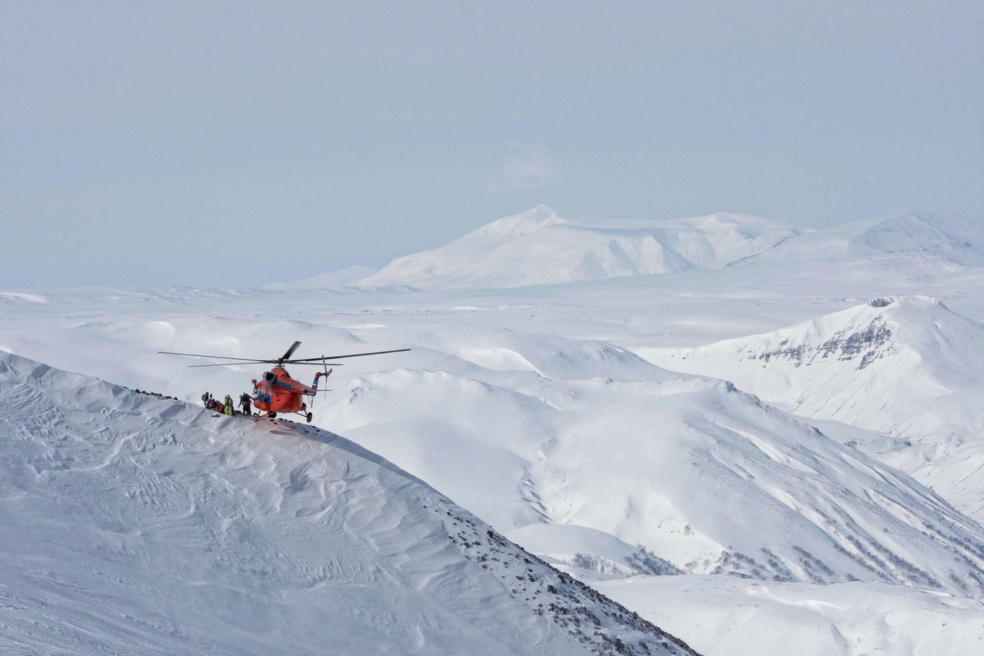 heli ski in Kamchatka