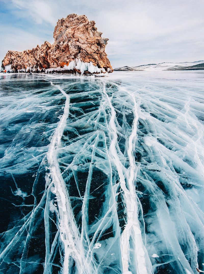Lake Baikal ice photo
