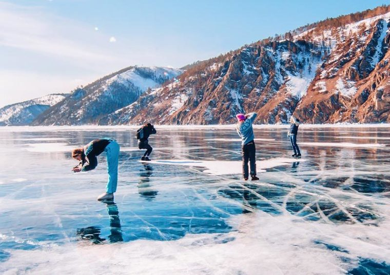 Lake Baikal ice photo tour, Russia