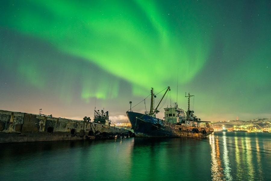 Northern Lights Murmansk tour Russia Kola Peninsula icebreaker Lenin