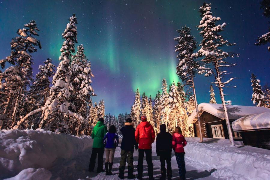 Northern lights Russia Murmansk tour