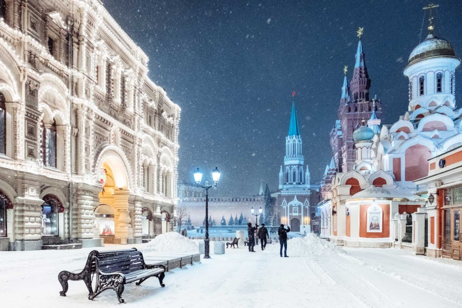 Moscow Winter Snow Beautiful
