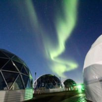 Northern Lights Murmansk tour Russia Kola Peninsula ice igloo