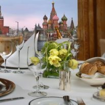 Moscow hotels view, Russia tour