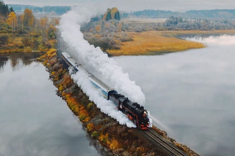Karelia tour Russia train